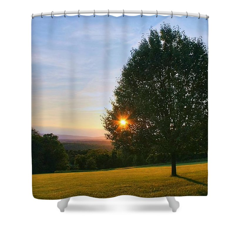 Landscape Shower Curtain featuring the photograph Poetry Of Nature by Mitch Cat