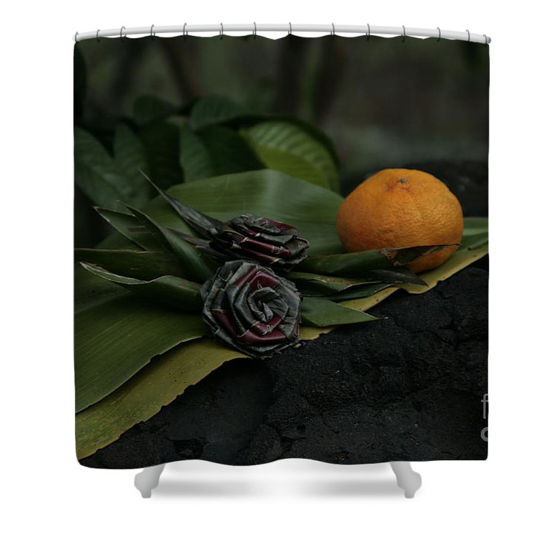 Aloha Shower Curtain featuring the photograph Pohaku O Maui Hookupu Ulupalakua Kanaio Hawaii by Sharon Mau
