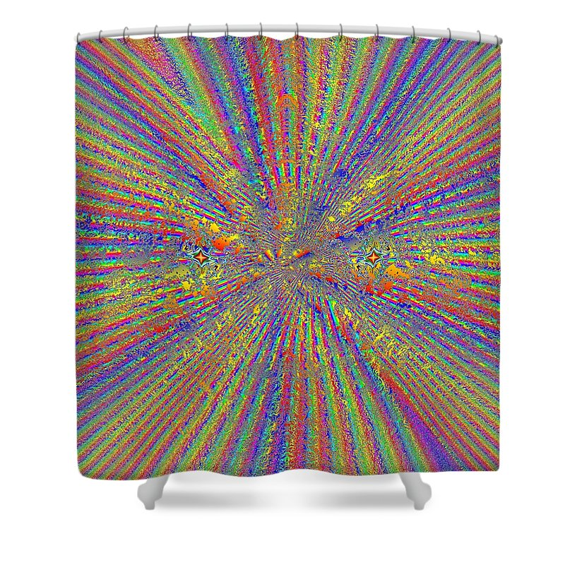 Abstract Shower Curtain featuring the digital art Point Counter Point by Tim Allen