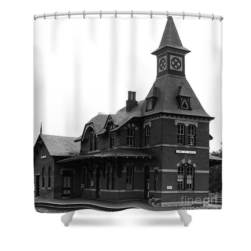 Train Shower Curtain featuring the photograph Point Of Rocks IIi by Thomas Marchessault