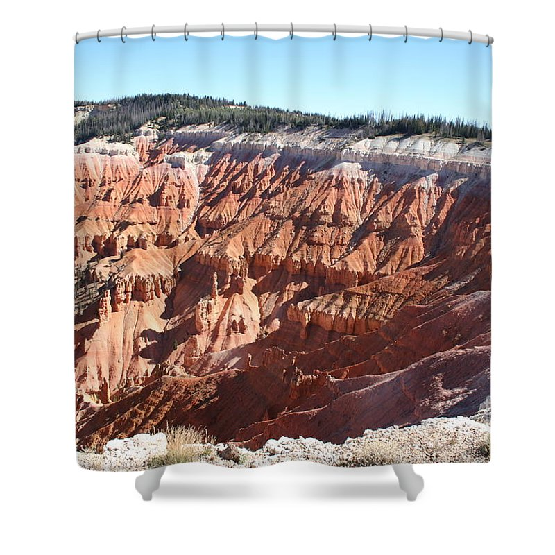 Amphitheater Shower Curtain featuring the photograph Point Supreme - Cedar Breaks by Christiane Schulze Art And Photography