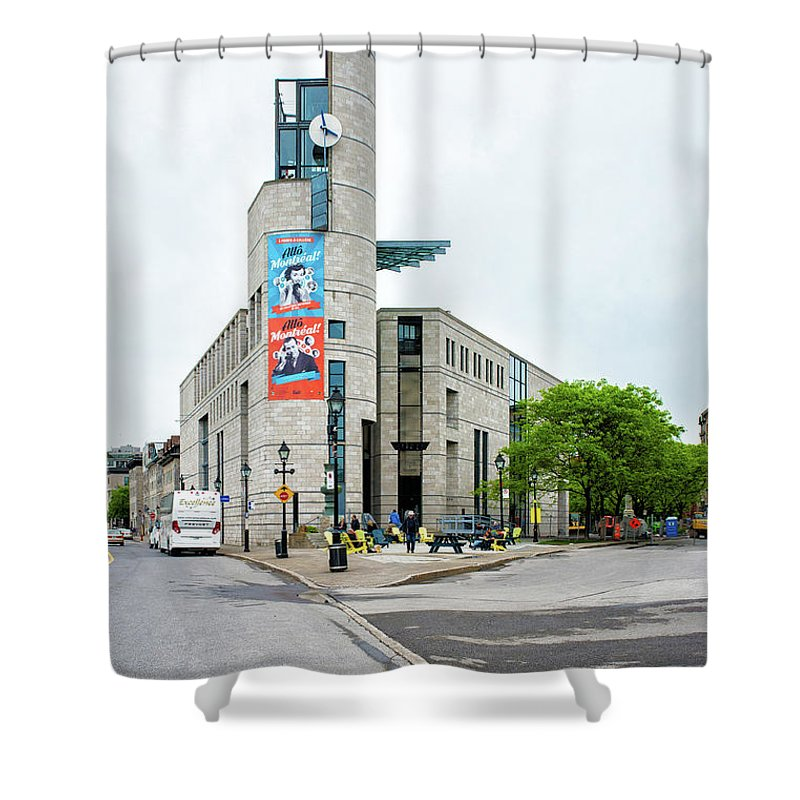 Montreal Shower Curtain featuring the photograph Pointe A Calliere Museum by Michael Gallitelli