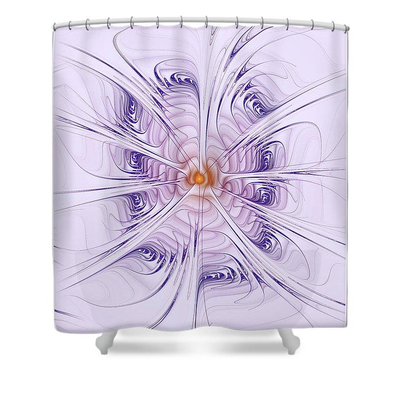 Purple Shower Curtain featuring the digital art Poiple Poiple by Deborah Benoit