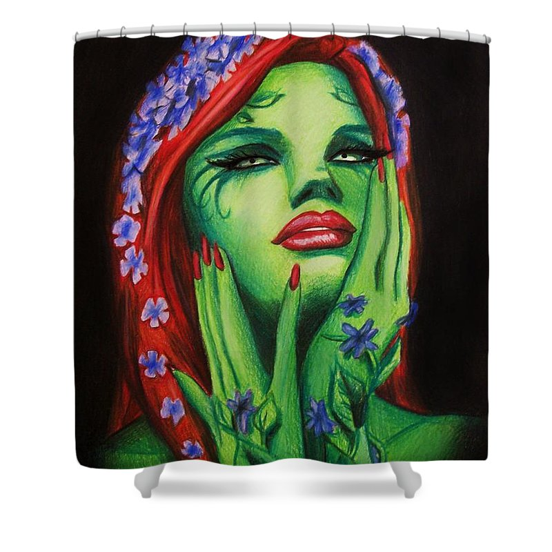 Poison Ivy Shower Curtain Featuring The Digital Art By Amber Stanford