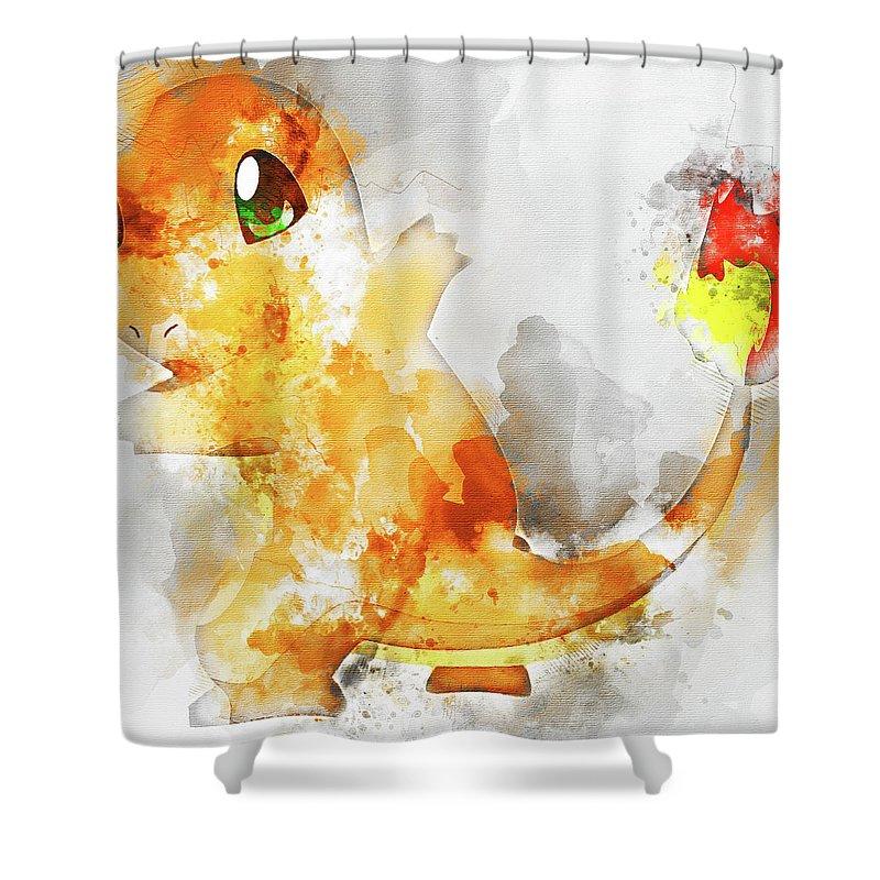 Pokemon Charmander Abstract Portrait