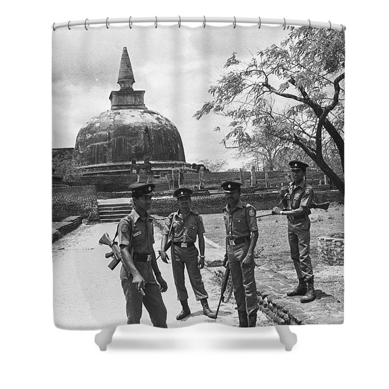 Polonnaruwa Shower Curtain featuring the photograph Polonnaruwa by Omar Shafey