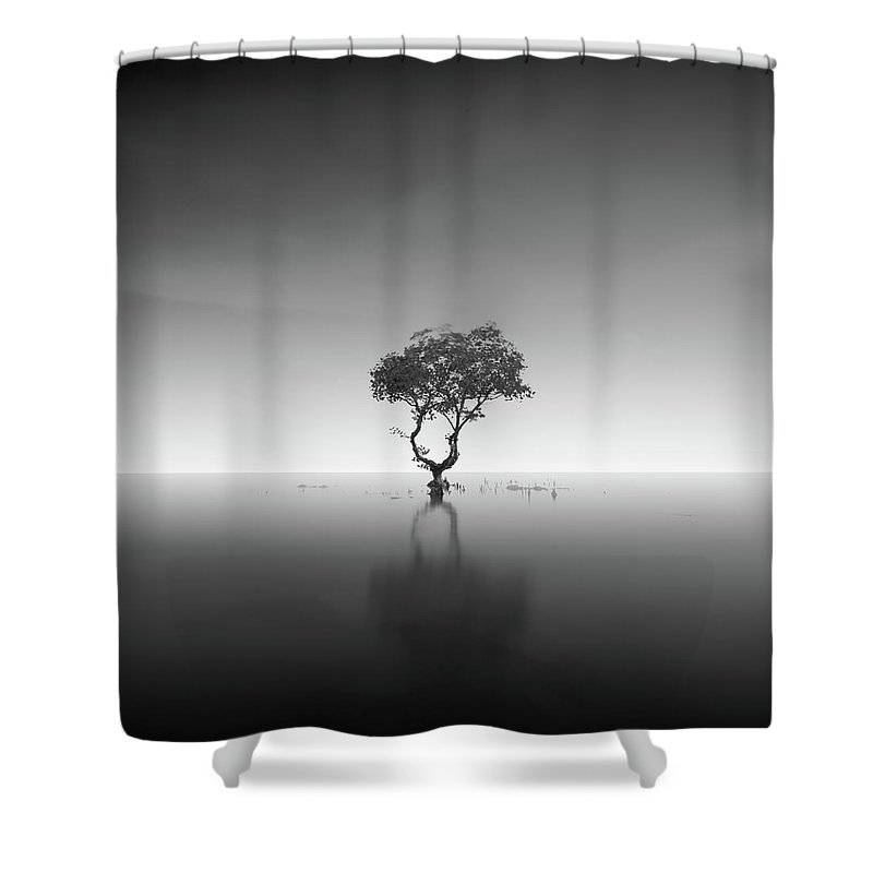 Fineart Shower Curtain featuring the photograph Polos by Dicky Sangadji