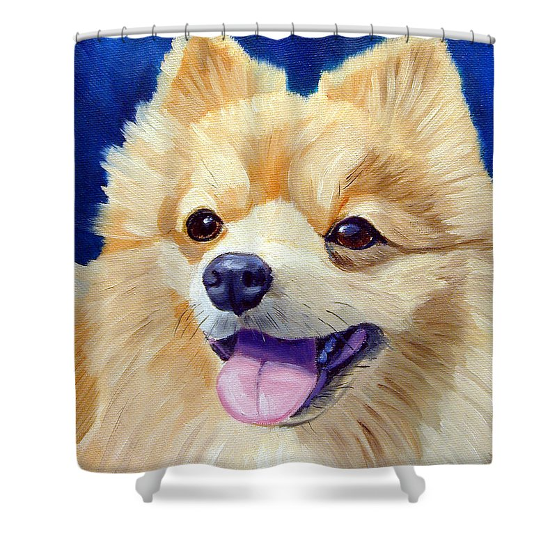 Pomeranian Shower Curtains