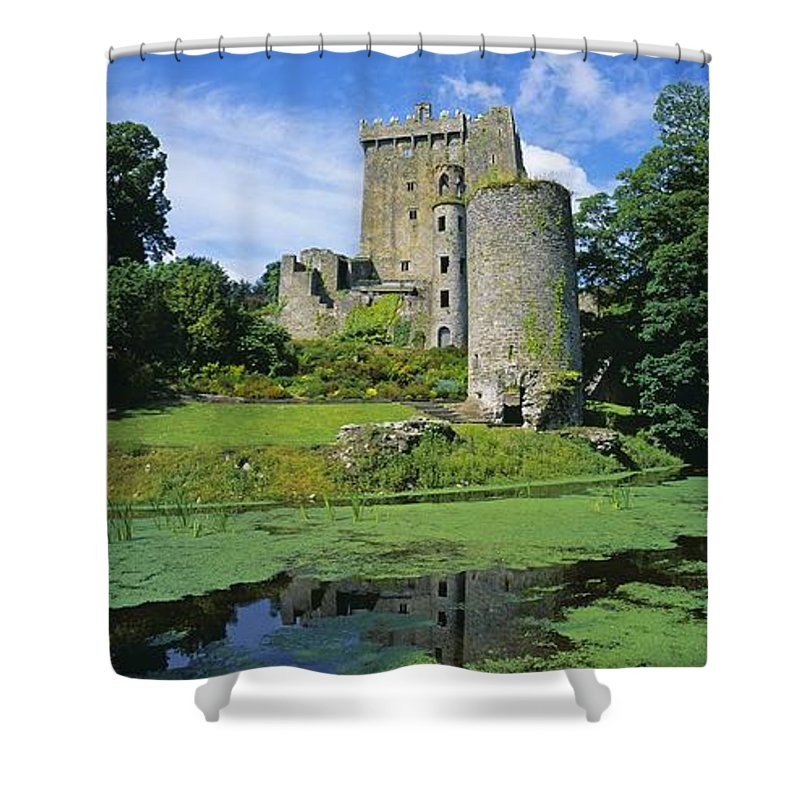 Blarney Castle Shower Curtain featuring the photograph Pond In Front Of A Castle, Blarney by The Irish Image Collection