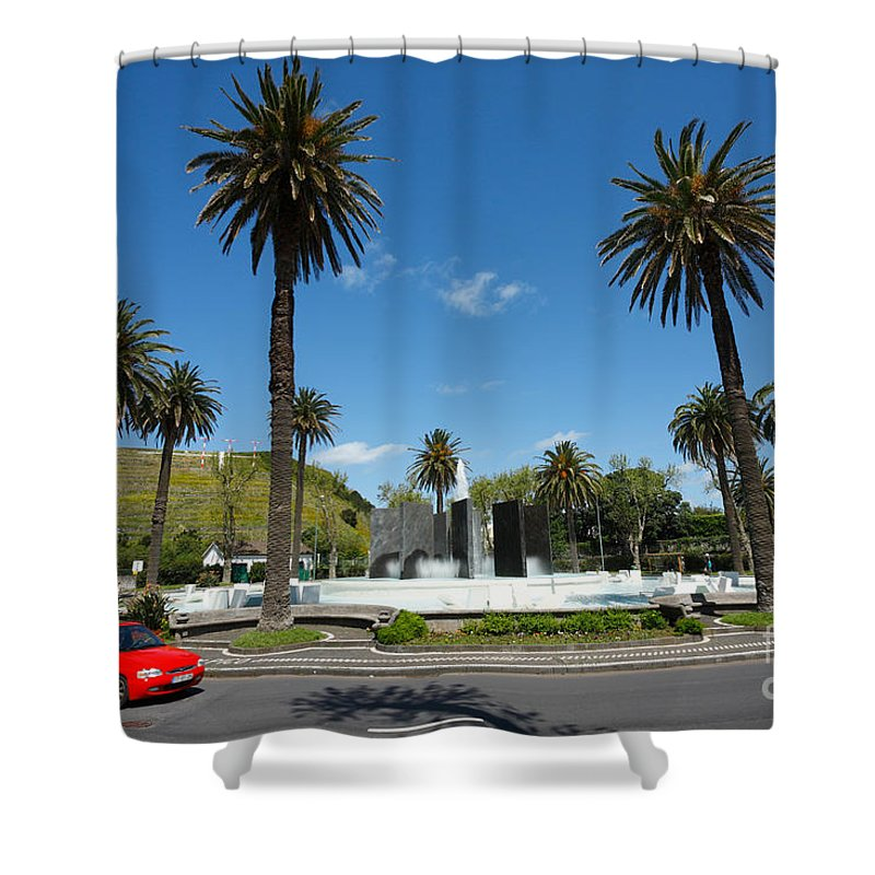 Roundabout Shower Curtain featuring the photograph Ponta Delgada by Gaspar Avila