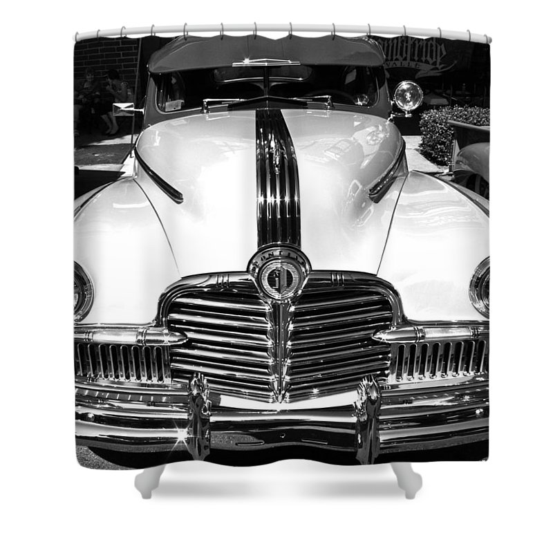 Photograph Shower Curtain featuring the photograph Pontiac by Gwyn Newcombe