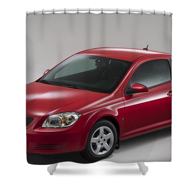 Pontiac Shower Curtain featuring the digital art Pontiac by Lonna Egleston