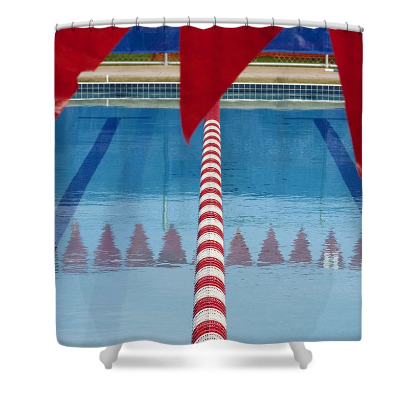 Flag Shower Curtain featuring the photograph Pool by Skip Hunt