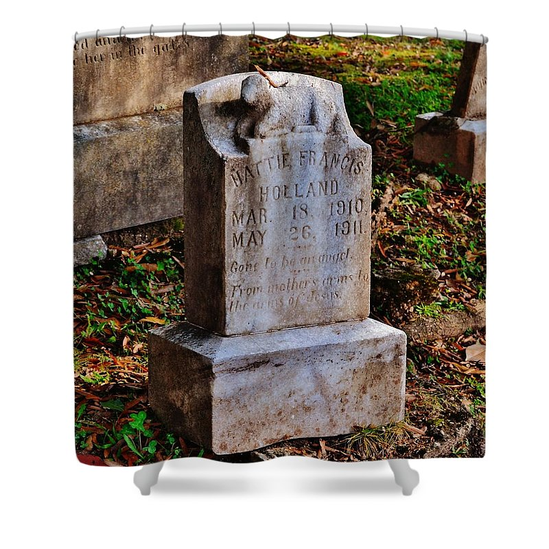 Cemetery Shower Curtain featuring the photograph Poor Little Baby by Eileen Brymer