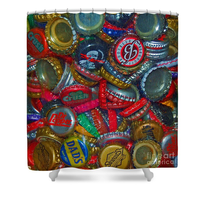 Bottles Shower Curtain featuring the photograph Pop Art by Debbi Granruth