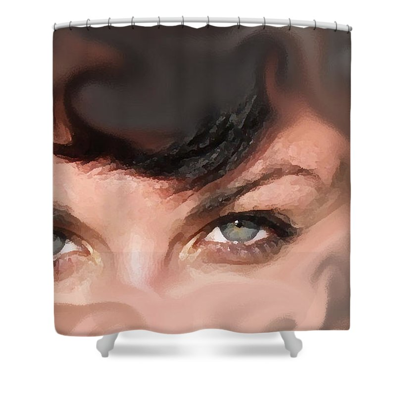 Eyes Shower Curtain featuring the photograph Pop Art Eyes by Heather Coen