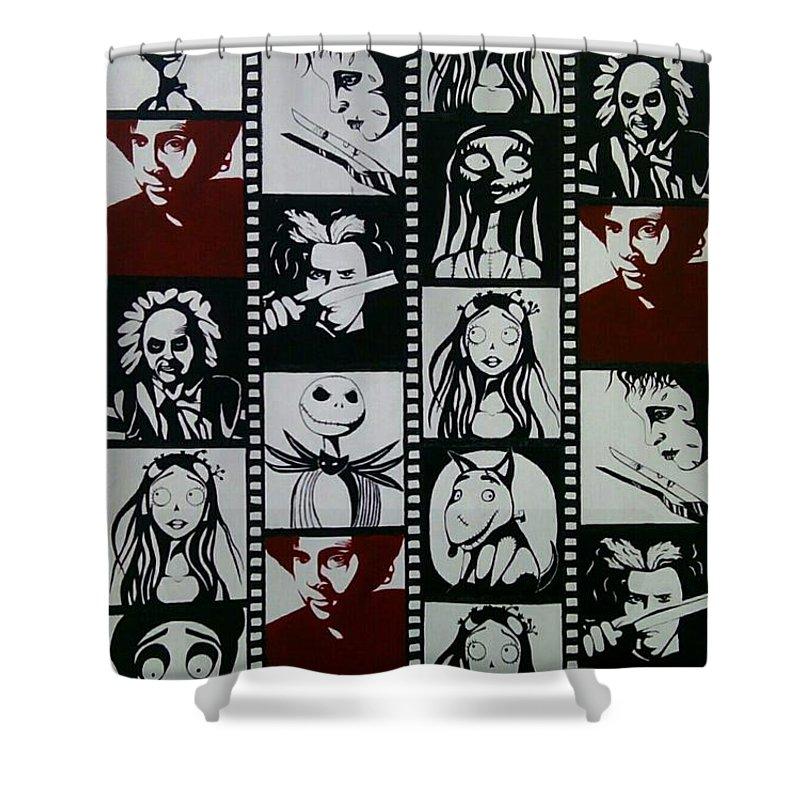 Cartoon Shower Curtain featuring the painting Pop Art by Helena Brnadic