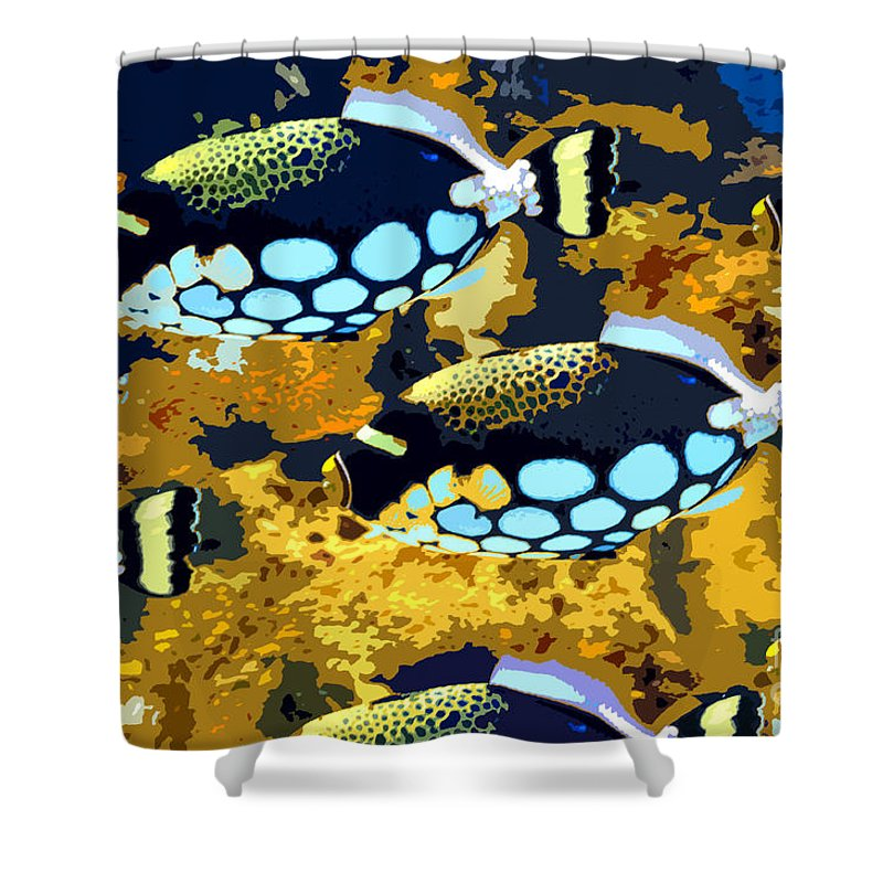 Fish Shower Curtain featuring the painting Pop Fish by David Lee Thompson