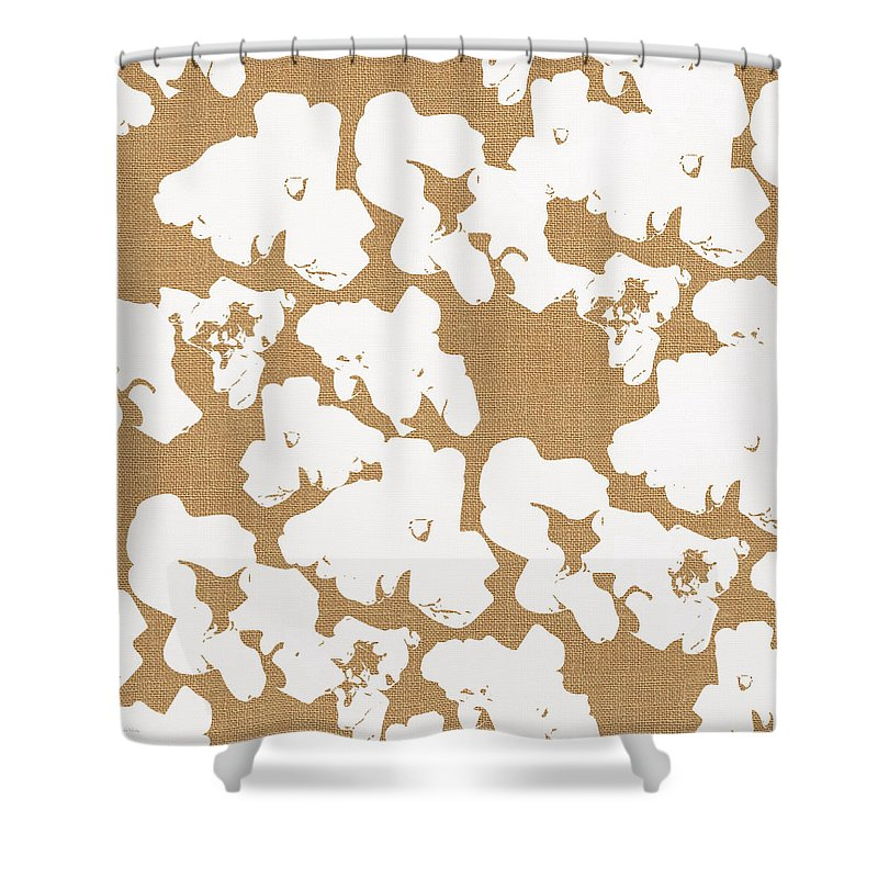Popcorn Shower Curtain featuring the mixed media Popcorn- Art by Linda Woods by Linda Woods