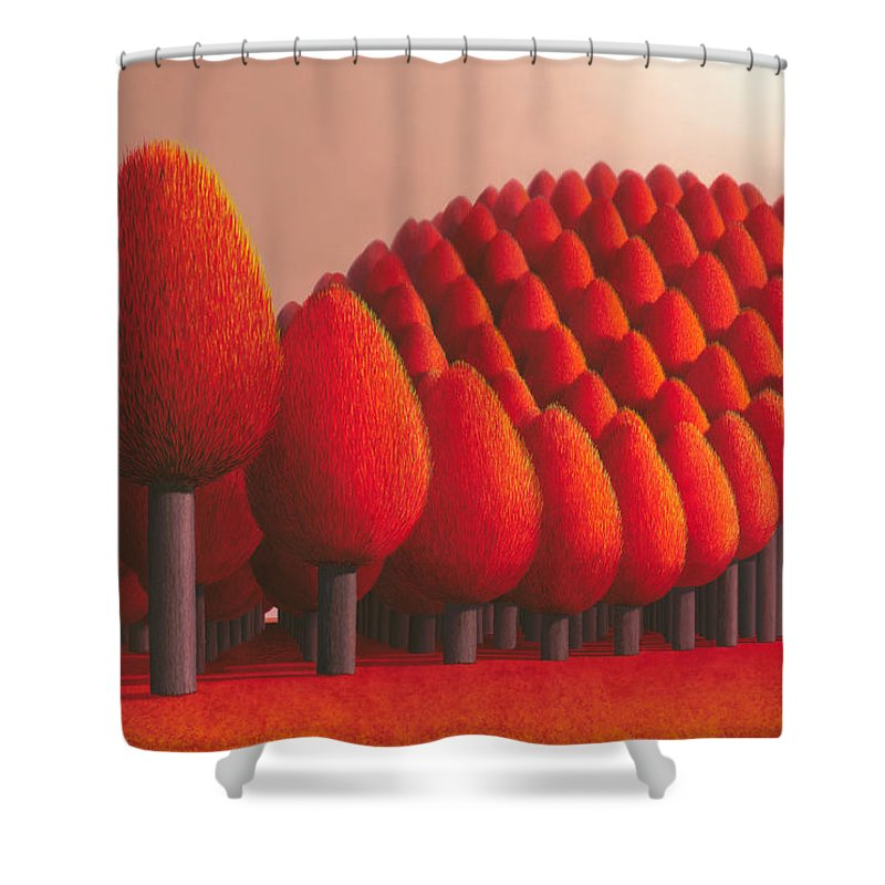 Tree Shower Curtain featuring the painting Populus Flucta by Patricia Van Lubeck
