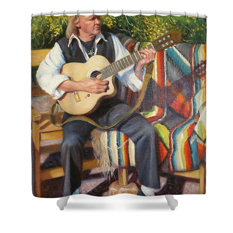 Realism Shower Curtain featuring the painting Por tu Amor by Donelli DiMaria