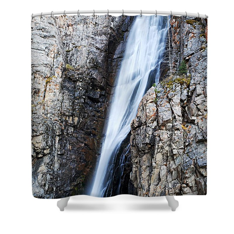 Porcupine Falls Shower Curtain featuring the photograph Porcupine Falls by Larry Ricker
