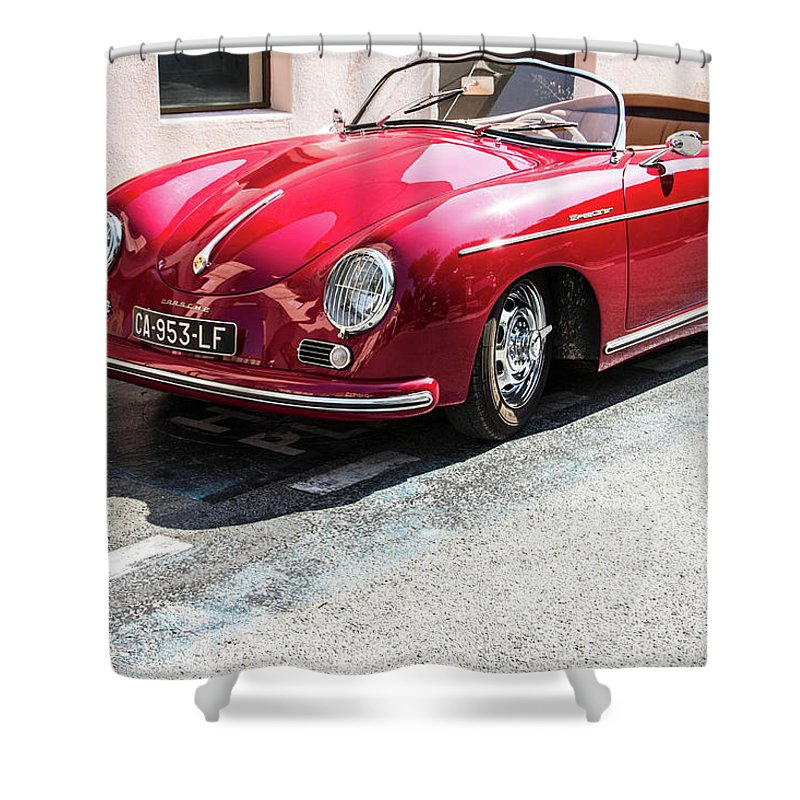 Porsche Oldtimer Shower Curtain For Sale By Biphoto Barna Ilona