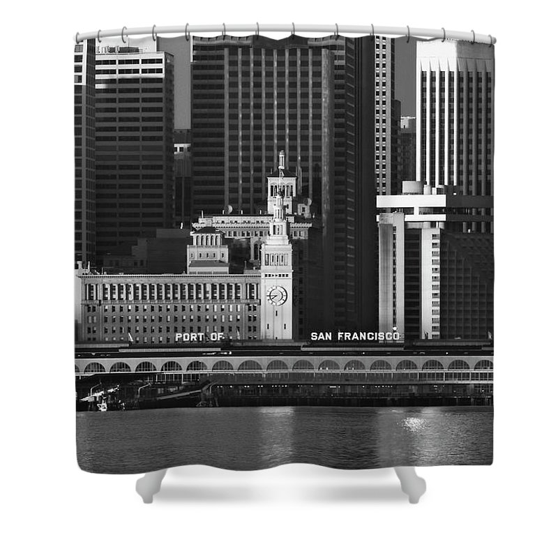 Port Shower Curtain featuring the photograph Port Of San Francisco by Mick Burkey