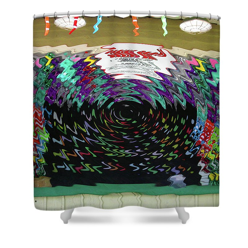 Carnival Shower Curtain featuring the digital art Portal To Another Dimension by Anne Cameron Cutri