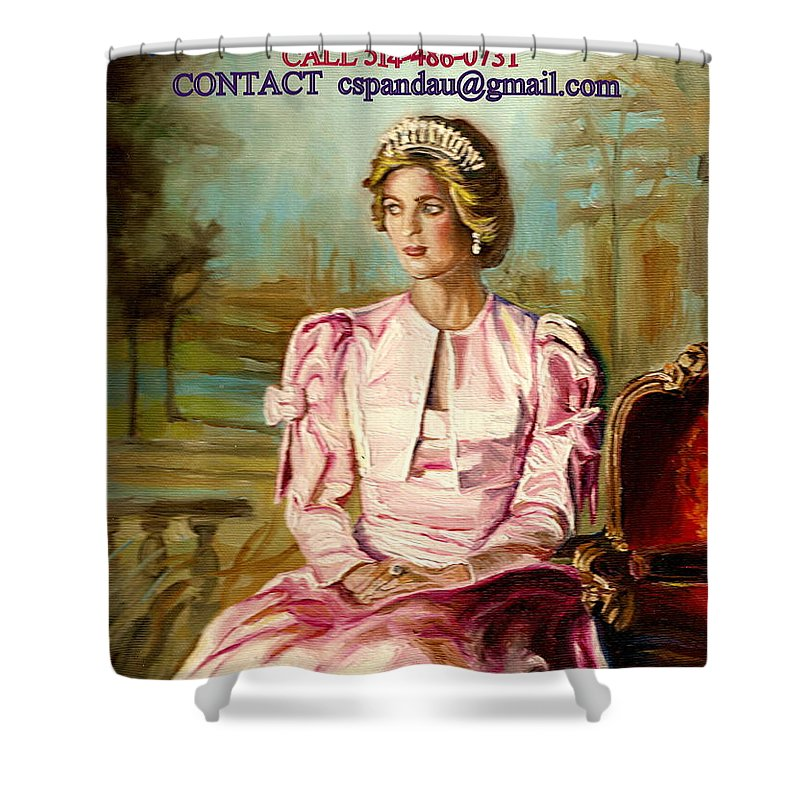 Commissioned Art Shower Curtain featuring the painting Portrait Commissions By Portrait Artist Carole Spandau by Carole Spandau