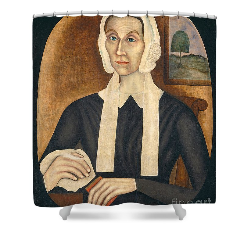 Shower Curtain featuring the painting Portrait Of A Woman by Thomas Skynner
