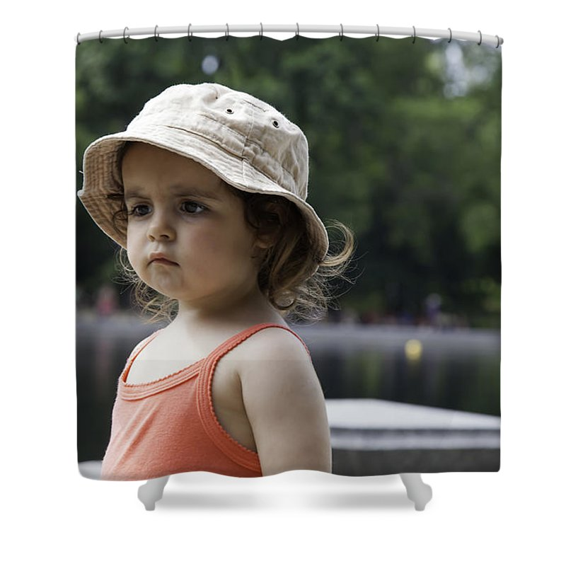 Young Shower Curtain featuring the photograph Portrait Of A Young Girl by Madeline Ellis