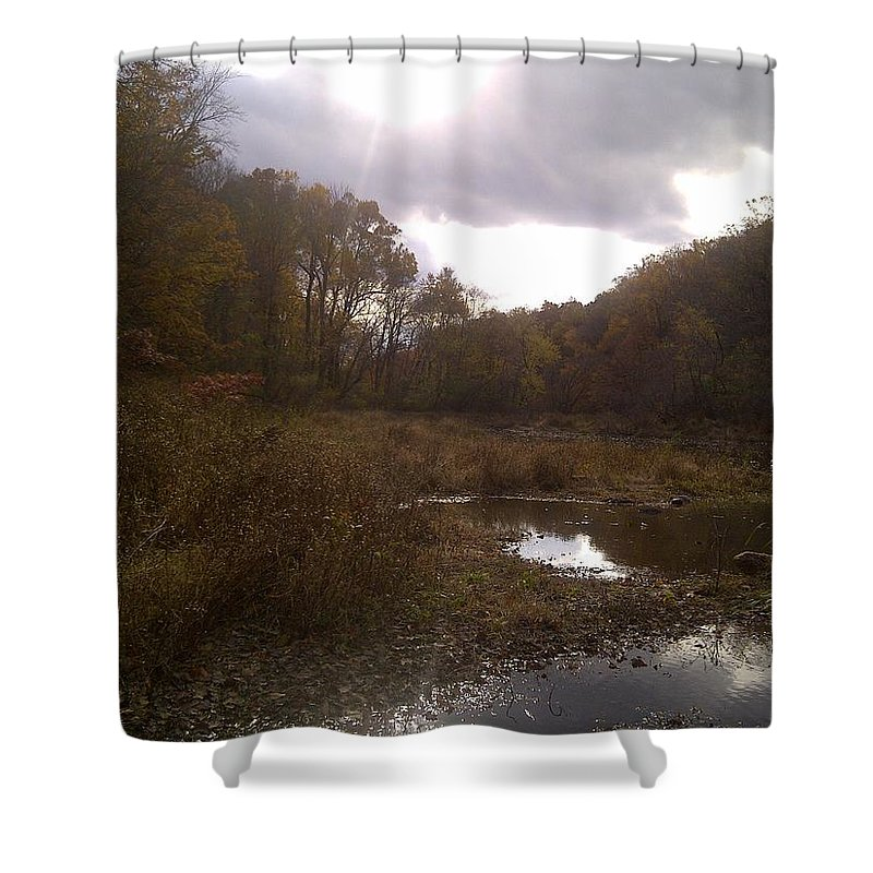 Shower Curtain featuring the photograph Portrait Of America - Lost Dream by Kevin Braybon