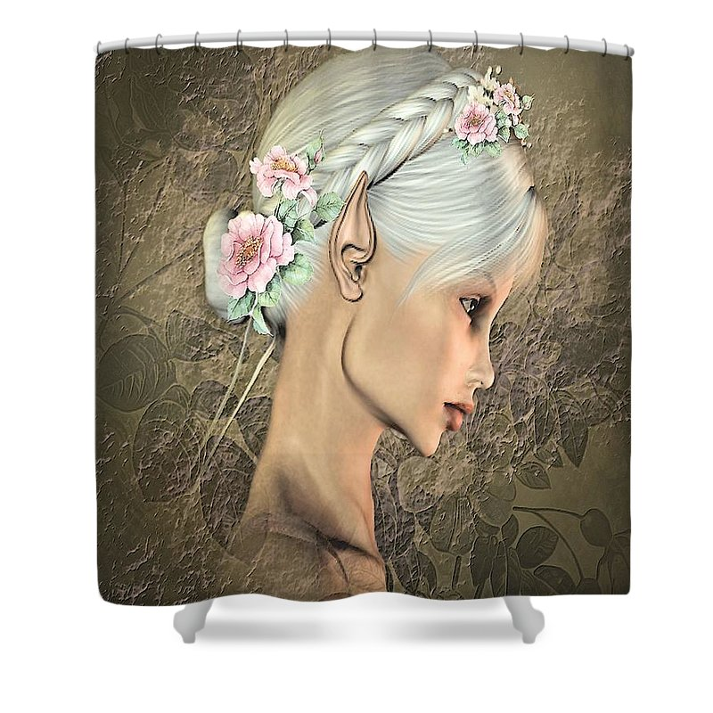 Portraits Shower Curtain featuring the photograph Portrait Of An Elf by G Berry