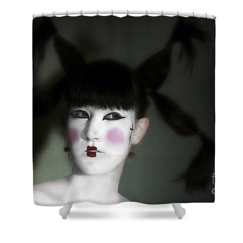 Portrait Shower Curtain featuring the photograph Portrait Of Japanese Model by Raphael Ben Dor