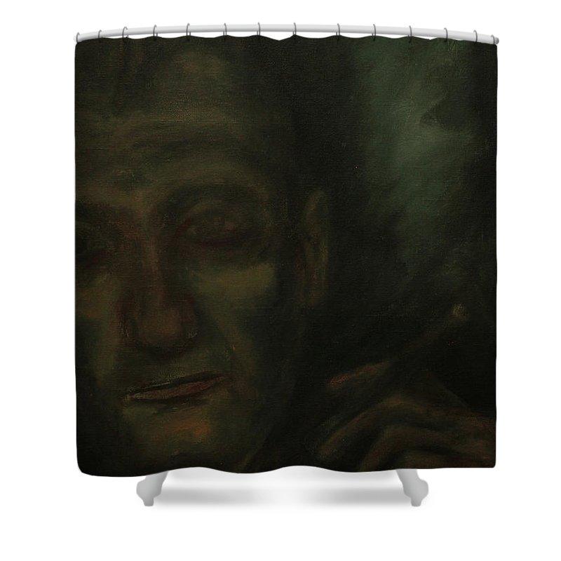 Portrait Shower Curtain featuring the painting Portrait S. B. by Jacob R