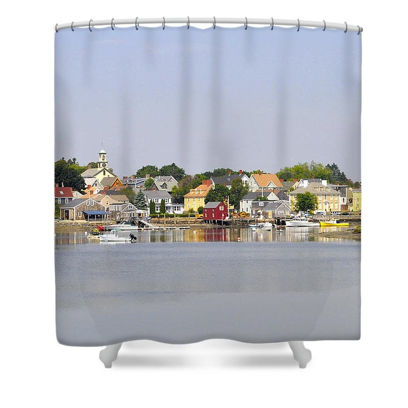 Portsmouth Shower Curtain featuring the photograph Portsmouth Nh South End Psep by Jim Brage