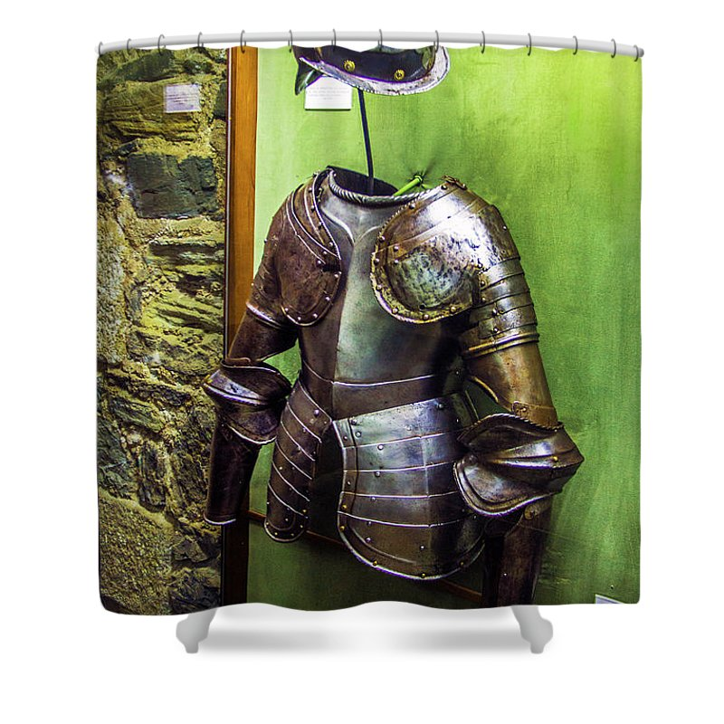 Armor Shower Curtain featuring the photograph Portuguese Armor by Roberta Bragan