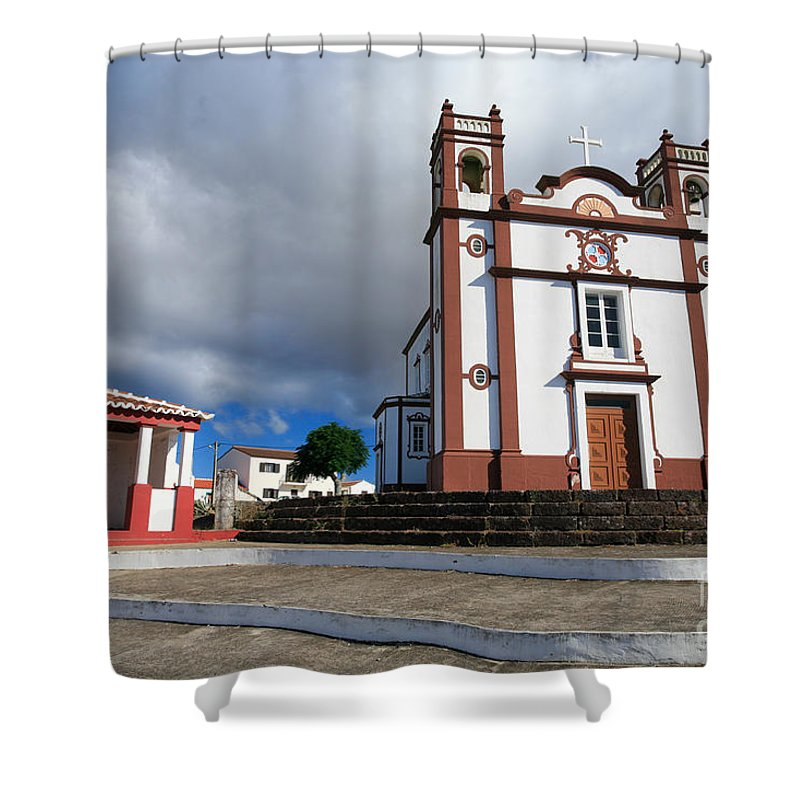 Architecture Shower Curtain featuring the photograph Portuguese Church by Gaspar Avila