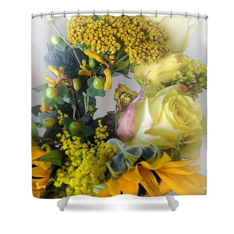 Bouquet Shower Curtain featuring the photograph Posies Picturesque by RC DeWinter