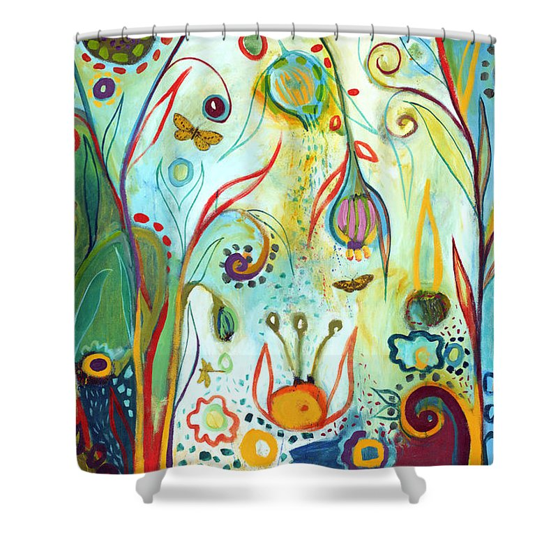 Garden Shower Curtain featuring the painting Possibilities by Jennifer Lommers