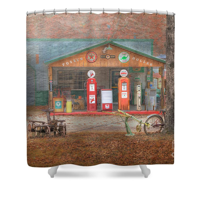Travel Shower Curtain featuring the photograph Possum Holler by Larry Braun