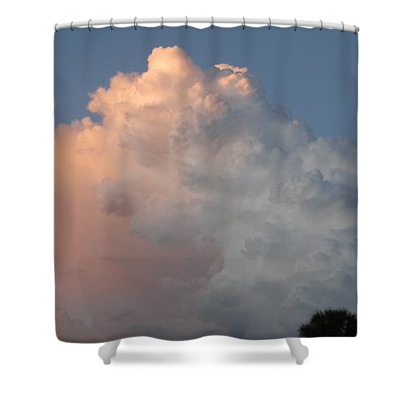 Clouds Shower Curtain featuring the photograph Post Card Clouds by Rob Hans
