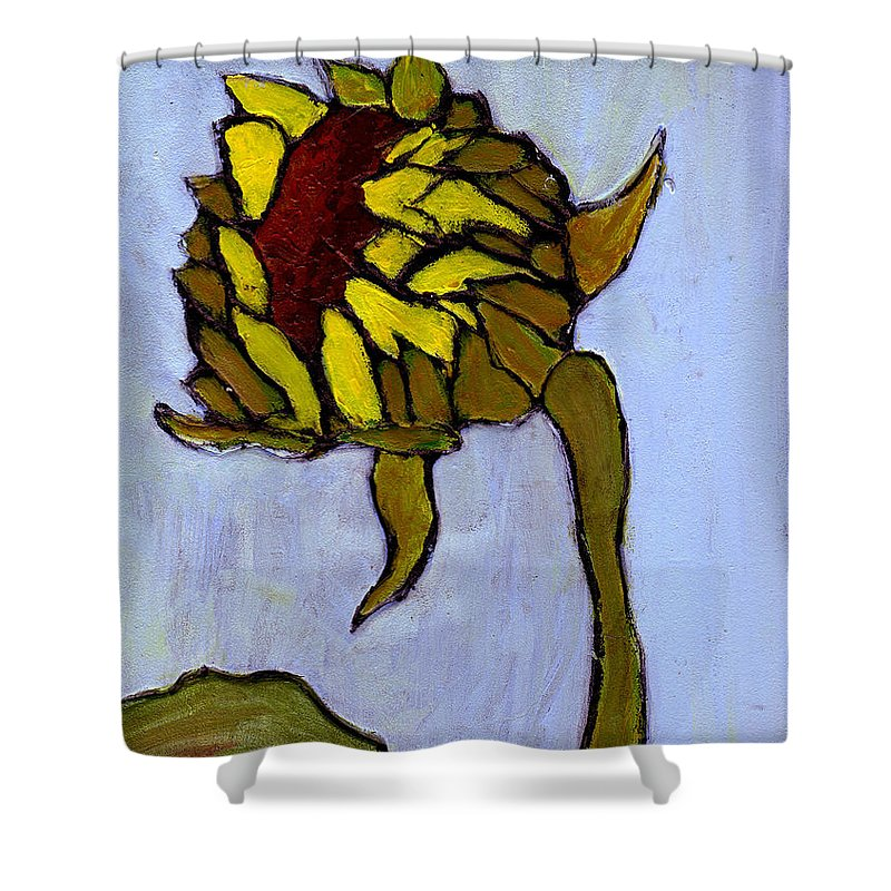 Sunflower Shower Curtain featuring the painting Potential by Wayne Potrafka