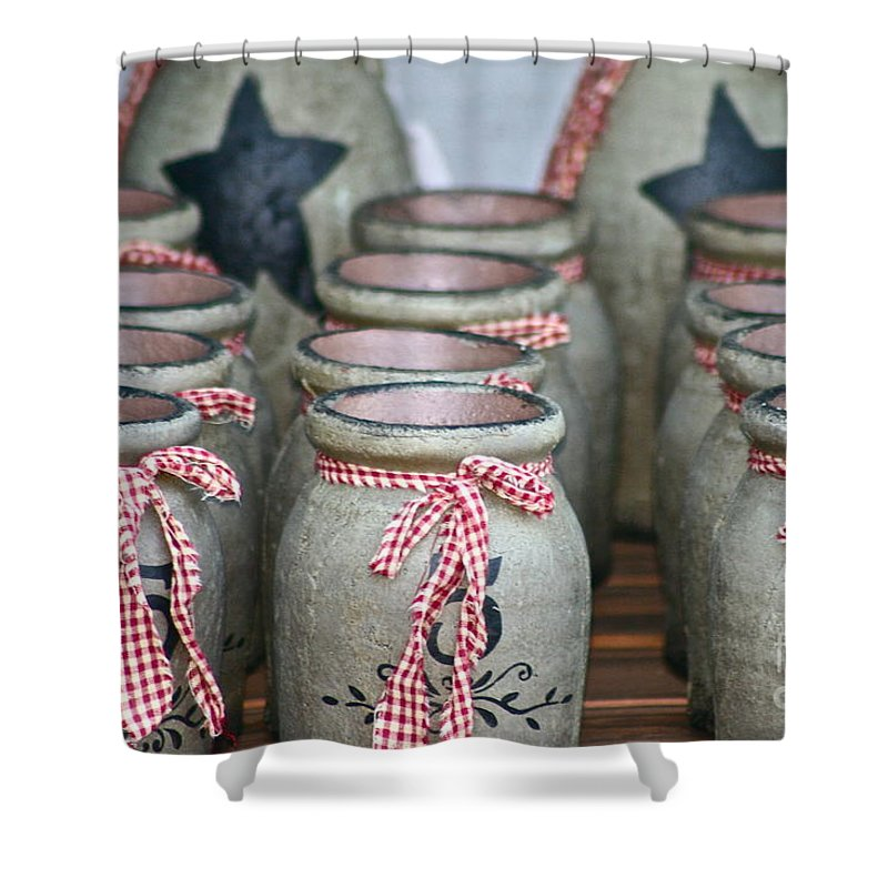 Pottery Shower Curtain featuring the photograph Pots by Rick Monyahan