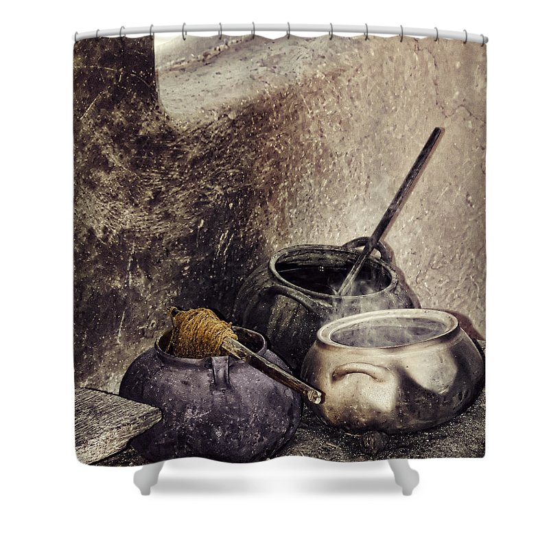 Still Life Shower Curtain featuring the photograph Pottery Of The South by Stephen Rudolph