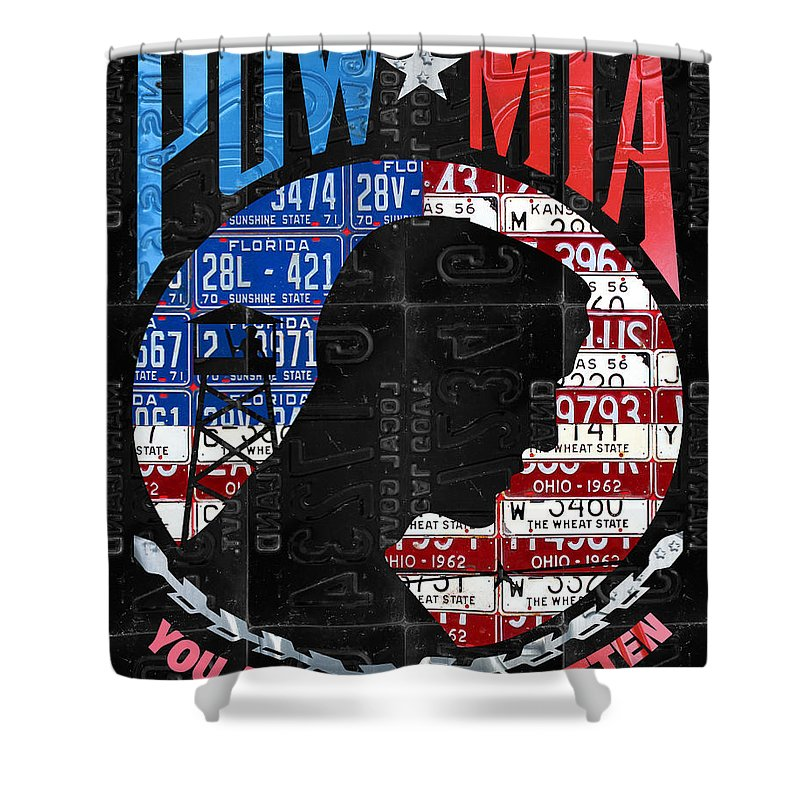 Pow Mia Shower Curtains