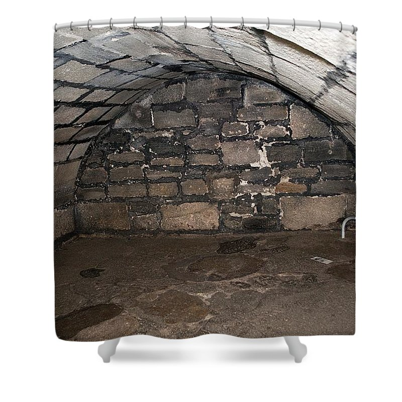 Fort Shower Curtain featuring the photograph Powder Magazine by Kenneth Albin
