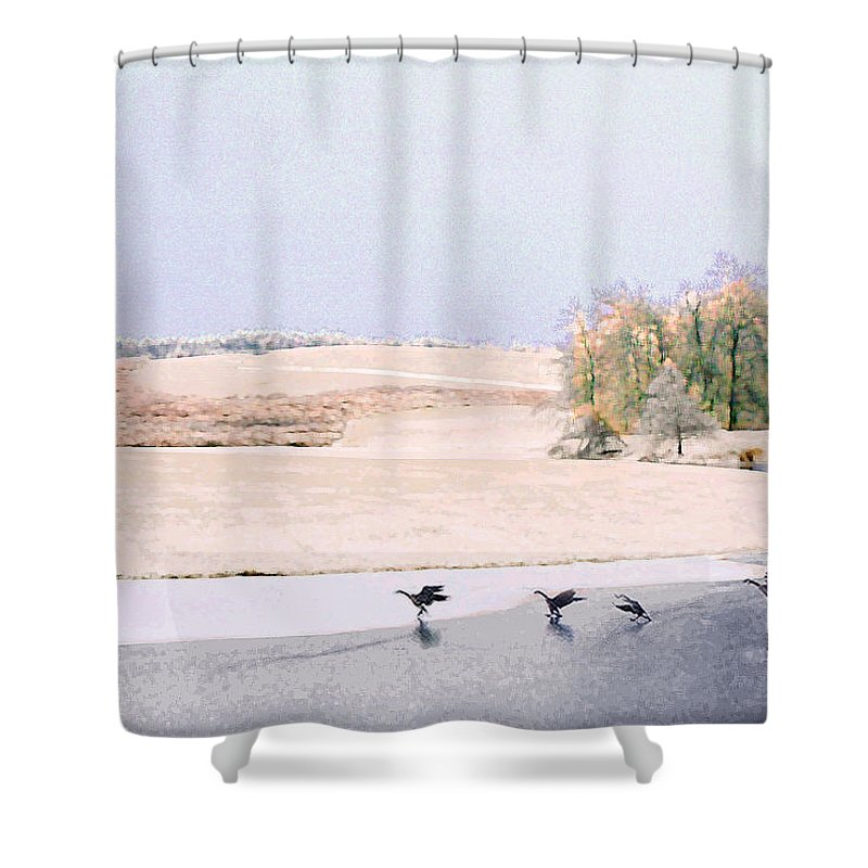 Landscape Shower Curtain featuring the photograph Powell Gardens In Winter by Steve Karol