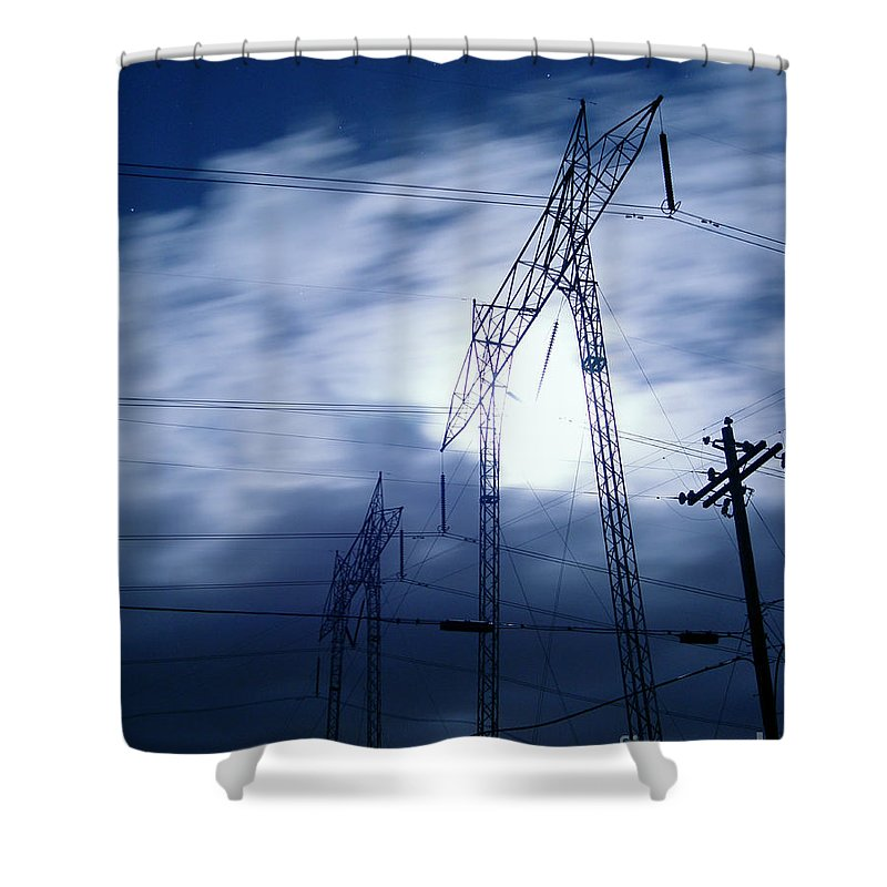 Clouds Shower Curtain featuring the photograph Power Surge by Peter Piatt